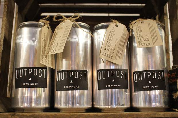 Outpost Brewing Co. has five beers on tap.