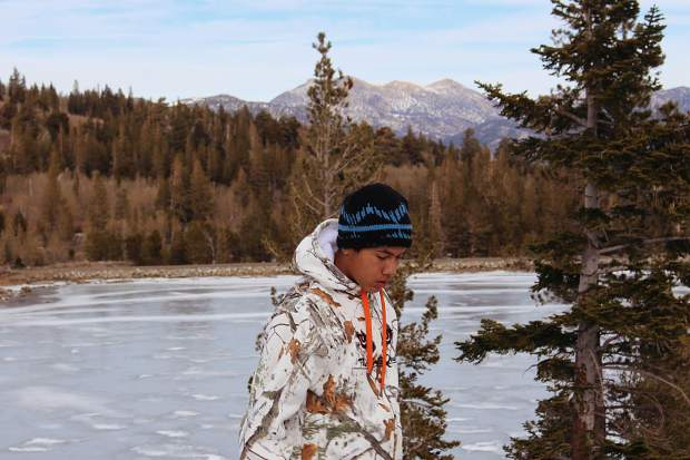 A frozen Red Lake was one of the sights taken in on the trek.