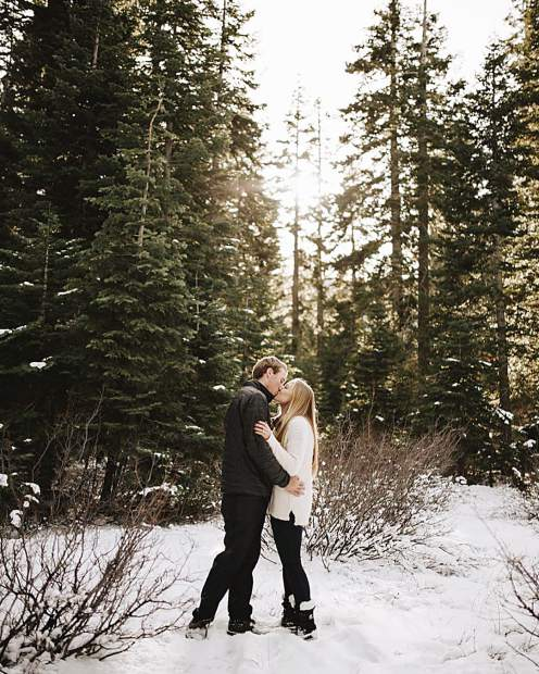 Just wrapping up this snowy engagement session.