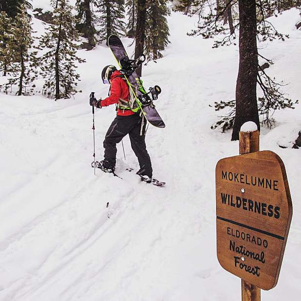 Wandering beyond the borders of the wilderness with my snowboard strapped on my back is certainly some kind of wonderful.