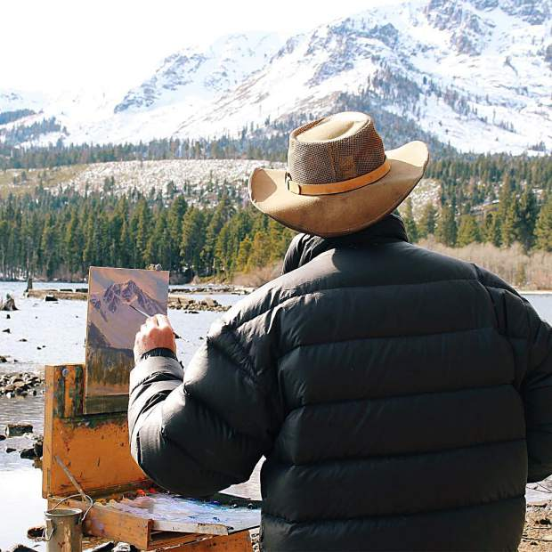 Spent the morning with plein air painter @charlesmuenchfineart at Fallen Leaf Lake.