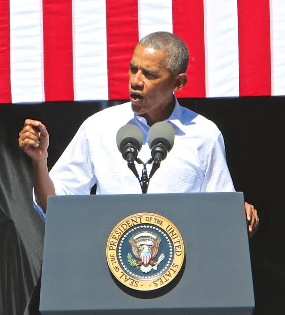 President Obama addresses the issues of climate change and its effects on the Lake Tahoe Basin and the lake itself Wednesday.