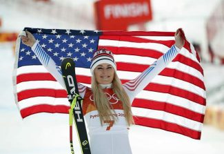 Lindsey Vonn takes bronze in Olympic downhill; Alice McKennis 5th
