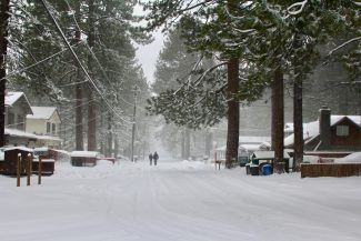 Photos: Lake Tahoe starts March with a snowstorm