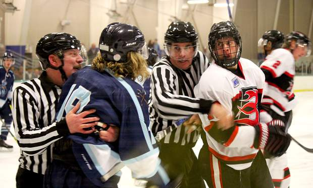 The series between Lake Tahoe and Bellingham was physical with referees trying to stop incidents from evolving into fights.