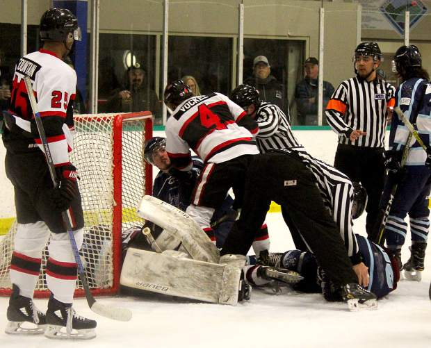 There was a big collision at the Tahoe net Friday night, but did not result in immediate injuries.