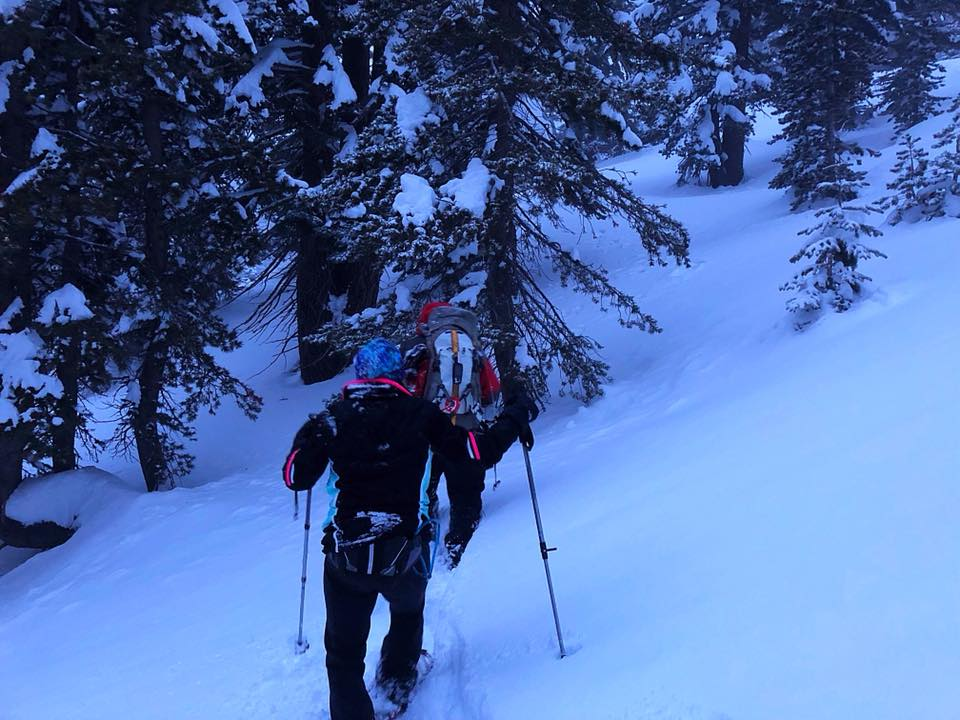 Rescuers helped a couple out of the backcountry near Incline Lake Tuesday, March 20.