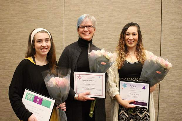 On Wednesday, March 7, The Soroptimist International of South Lake Tahoe presented Sarah Gonzales with the Violet Richardson Award, Dr. Kelly Shanahan with the Ruby Award, and Aubrie Shott with the Live Your Dream Award.