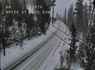 Chain controls in place around Lake Tahoe Thursday morning