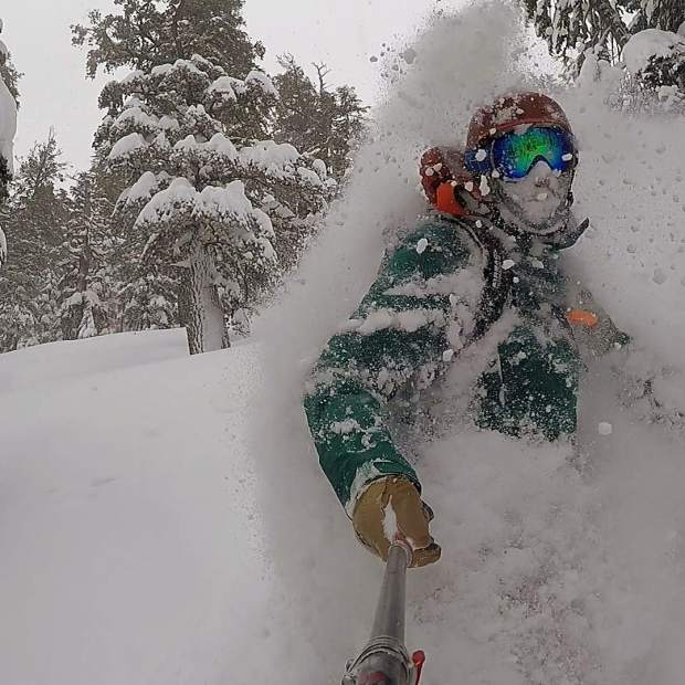 We worked incredibly hard today avoiding avalanche terrain while breaking trail in crazy deep pow.