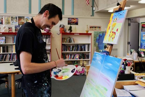 Artist Craig Newman is an instructor for Lake Tahoe Paint and Sip.