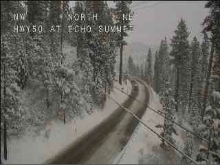 Chain controls in effect around Lake Tahoe Monday morning