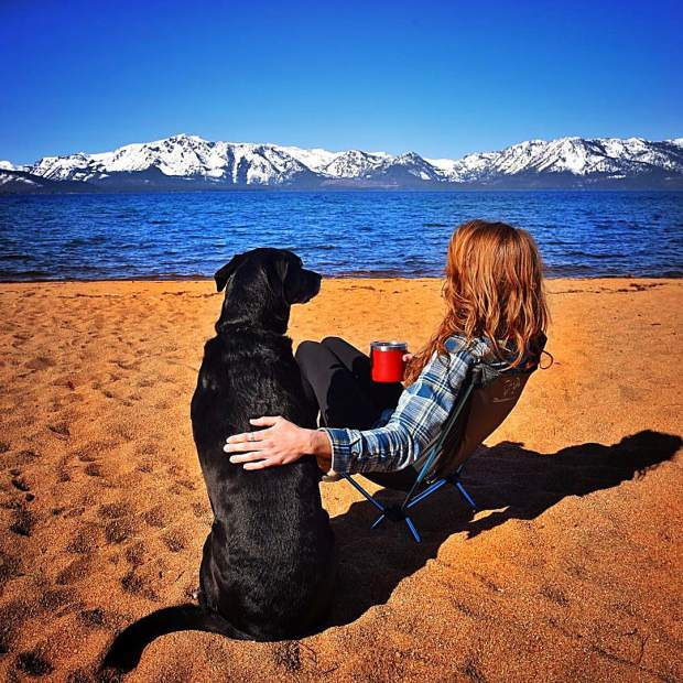 Love each moment spent in great company. Mountains, friends and a dog I love more than anything in the world!