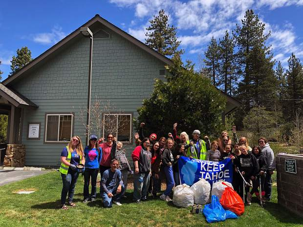 Nearly 300 volunteers participated in the third annual Spring Cleanup. Pictured are the League to Save Lake Tahoe volunteers.