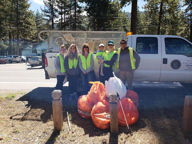 Nearly 300 volunteers participated in the third annual Spring Cleanup. Pictured are the Stateline volunteers.
