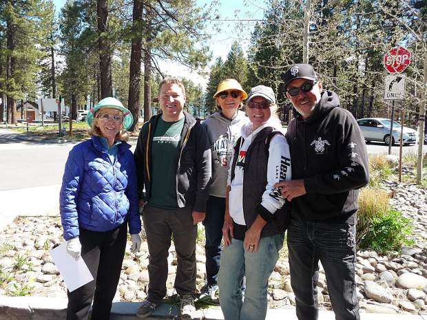 Nearly 300 volunteers participated in the third annual Spring Cleanup. Pictured are the Al Tahoe volunteers.