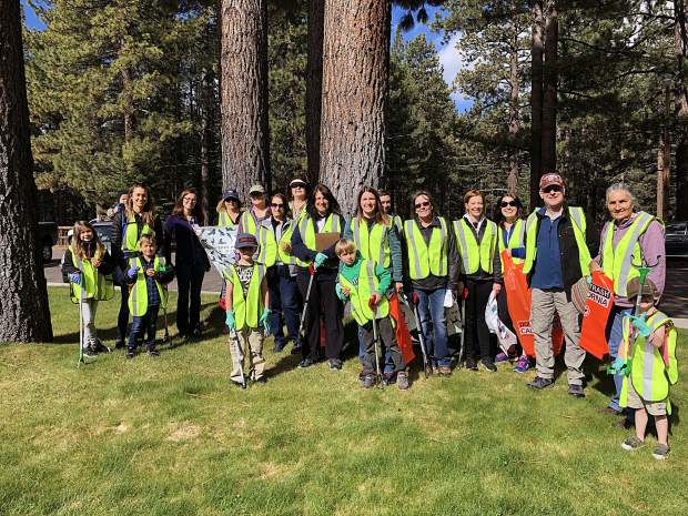 Nearly 300 volunteers participated in the third annual Spring Cleanup. Pictured are the Barton volunteers.