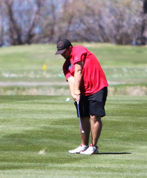Whittell senior Alex Byer approaches the green on hole No. 2.