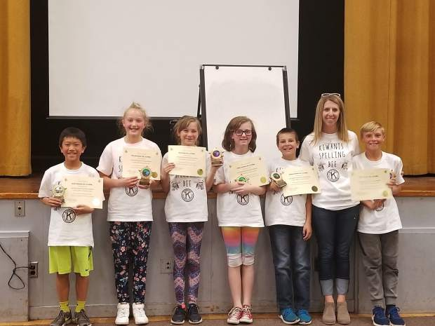 On May 3 the Lake Tahoe Environmental Magnet School took first place in the 34th annual Kiwanis/Katey Fagan Spelling Bee. Participating schools included Tahoe Valley, Sierra House, Bijou Elementary and The Magnet. The winners (from left to right) were Scott Yamaoka, Ella Schweitzer, Suzi Novak, Tiffany Cutting, Samuel Griffith, coach Denise Lehman and Ryder Preston.