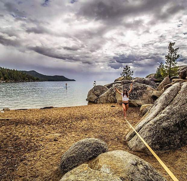 If you were here, would you be slacklining or paddleboarding?