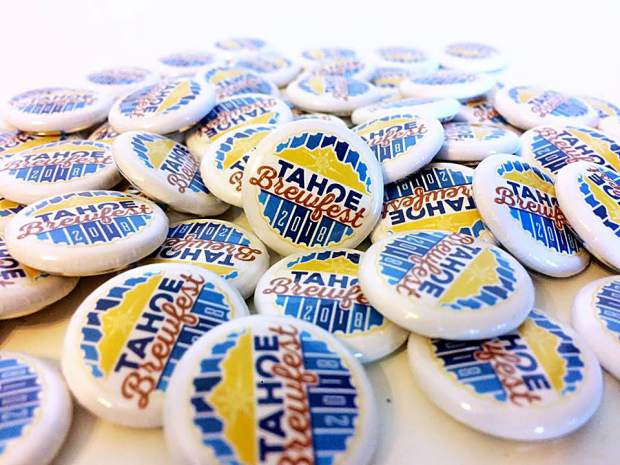 The first 2,000 attendees that arrive at Tahoe Brewfest will receive a themed button.