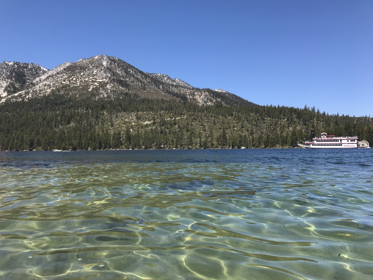 The view in Emerald Bay on a recent Saturday.
