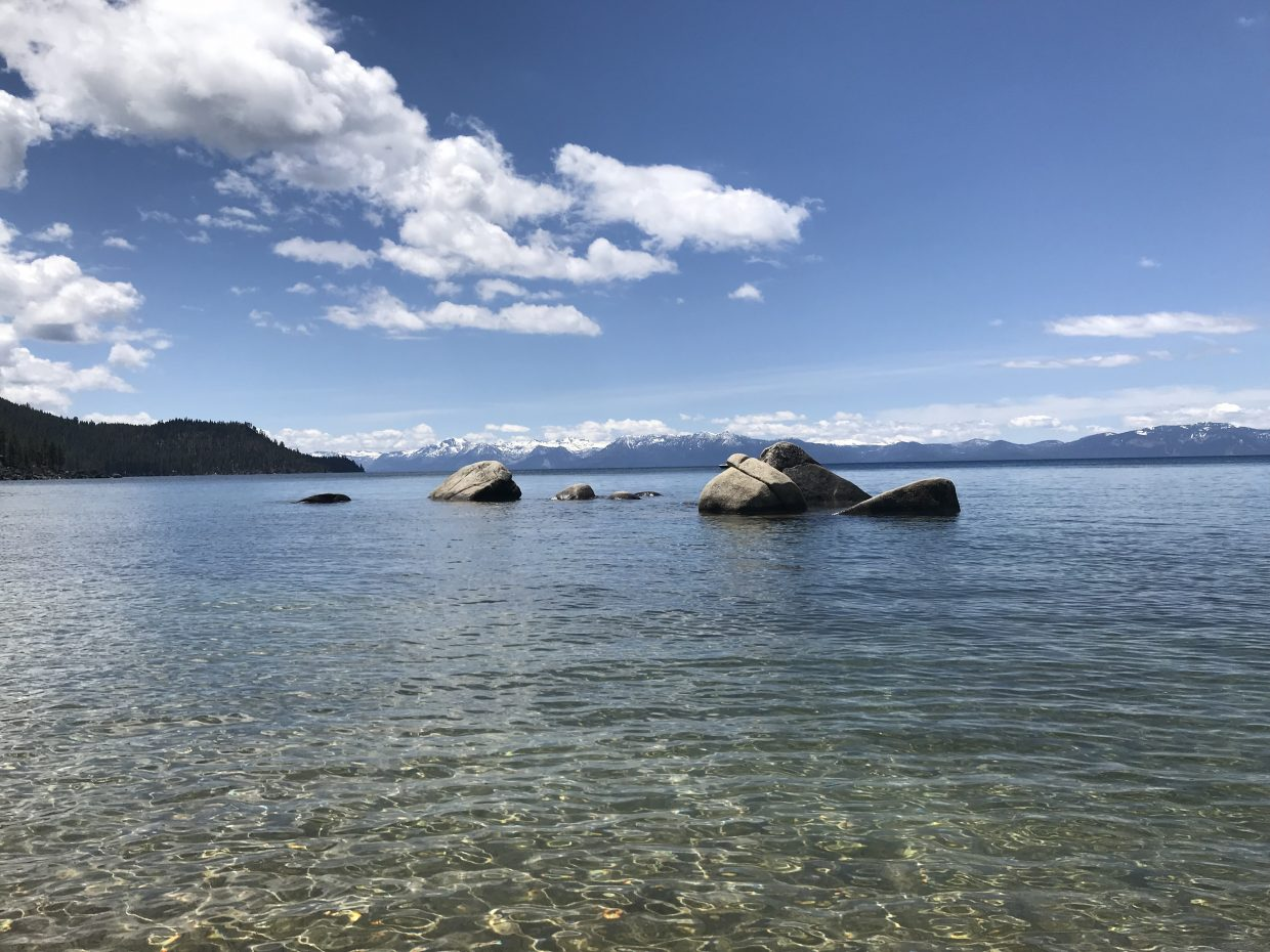 The view from Lake Tahoe's East Shore on Memorial Day weekend.