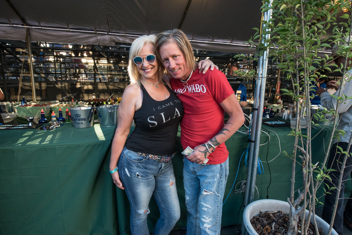 Jimmy and Cali grabbing a drink before Robert Plant takes the stage at the Harveys Lake Tahoe outdoor concert venue on Saturday, June 23.