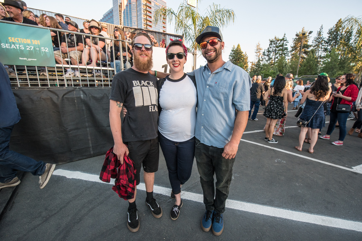 Kate with her friends waiting for Robert Plant perform at the Harveys Lake Tahoe outdoor concert venue on Saturday, June 23.