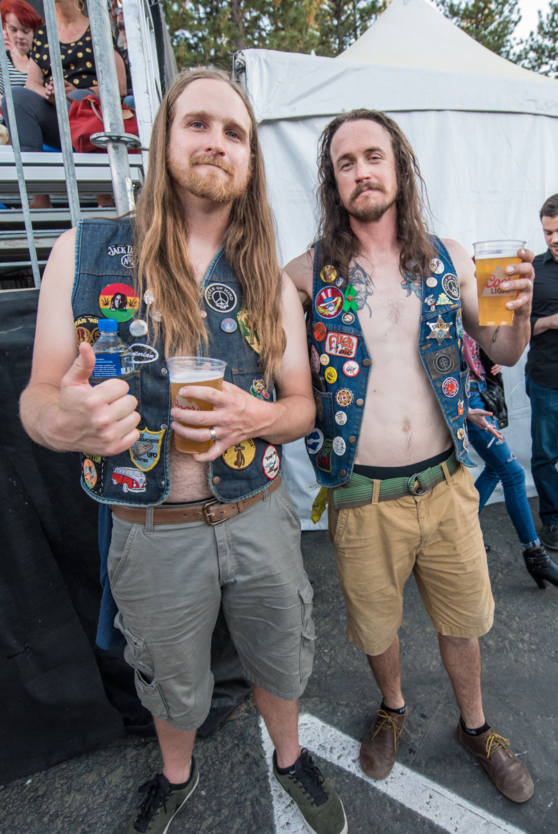 Daniel and friend ready to watch Robert Plant perform at the Harveys Lake Tahoe outdoor concert venue on Saturday, June 23.
