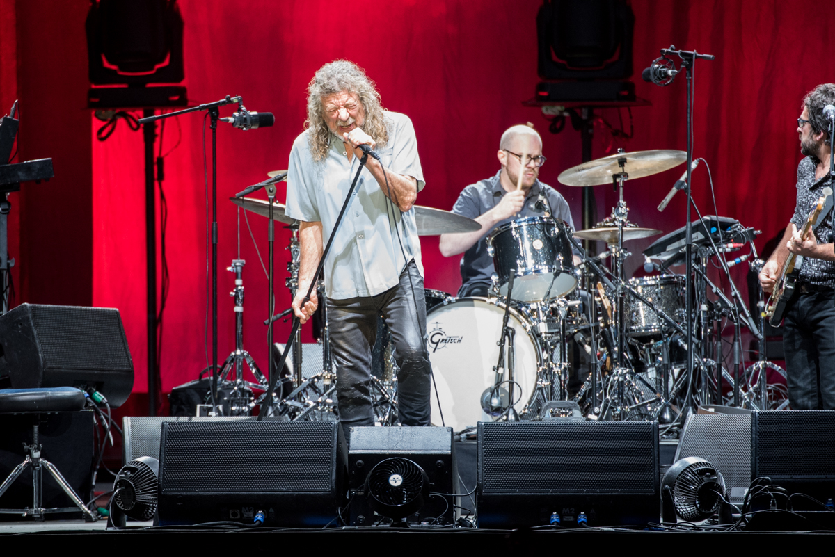 Robert Plant and the Sensational Space Shifters performing at the Harveys Lake Tahoe outdoor concert venue on Saturday, June 23.