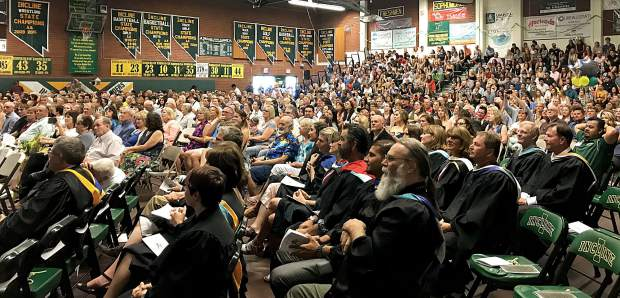 The gymnasium at Incline High School was packed Wednesday, June 13, for the graduation ceremony.