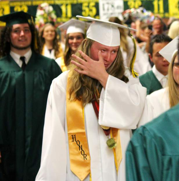 Laughter, cheers and tears were all shared between classmates Wednesday, June 13, at Incline High School's graduation ceremony.