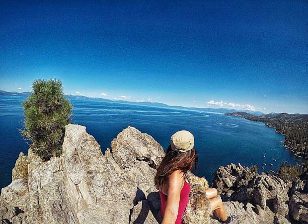 What Monday blues when I have Lake Tahoe views like this with my best friend!