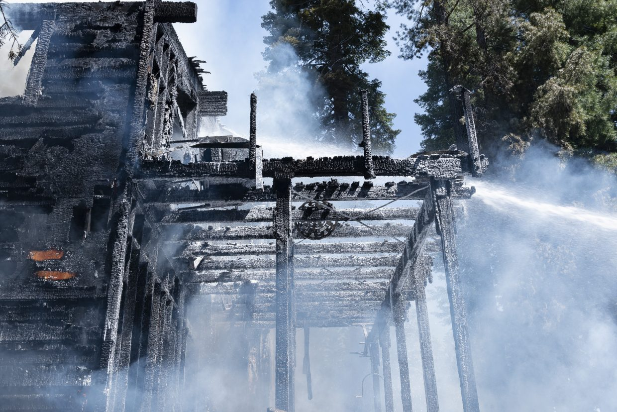 A house in Tahoma was consumed by a fire Thursday morning.