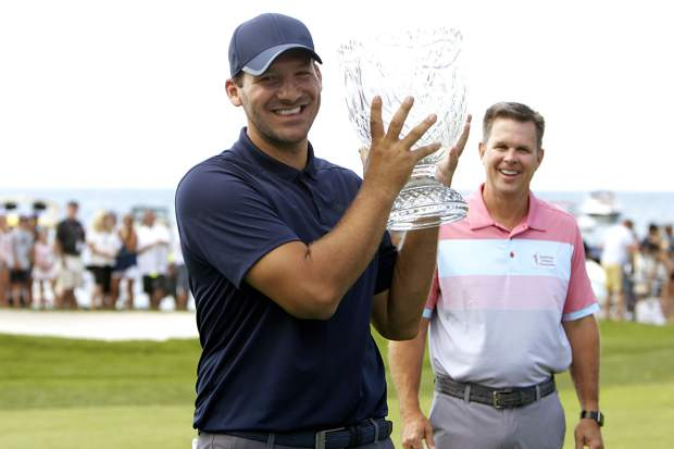 Tony Romo will return to Lake Tahoe to defend celebrity golf title