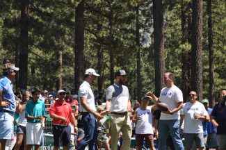Seventh hole a Thursday favorite for fans and celebrities at Lake Tahoe celebrity golf