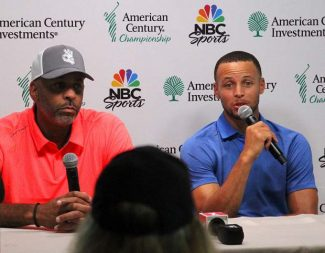 Dell and Steph Curry play together in first round of American Century Championship
