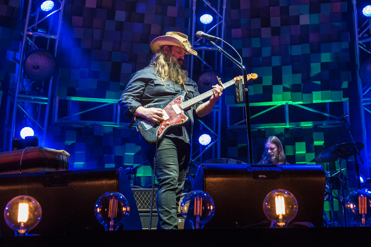 Chris Stapleton performing at the Harveys Lake Tahoe outdoor concert venue on Thursday, July 26.