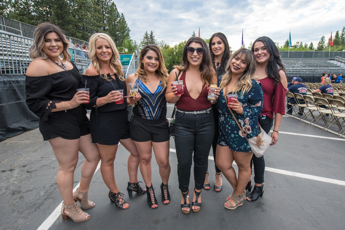 Fans excited for Pitbull's performance at the Harveys Lake Tahoe outdoor concert venue on Friday, July 13th.