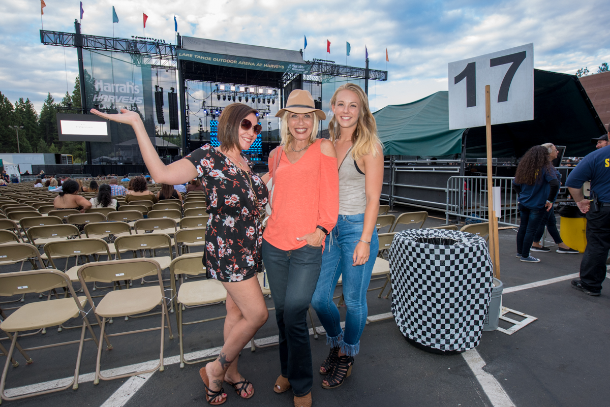 Fans arriving early ahead of Pitbull's performance at the Harveys Lake Tahoe outdoor concert venue on Friday, July 13th.