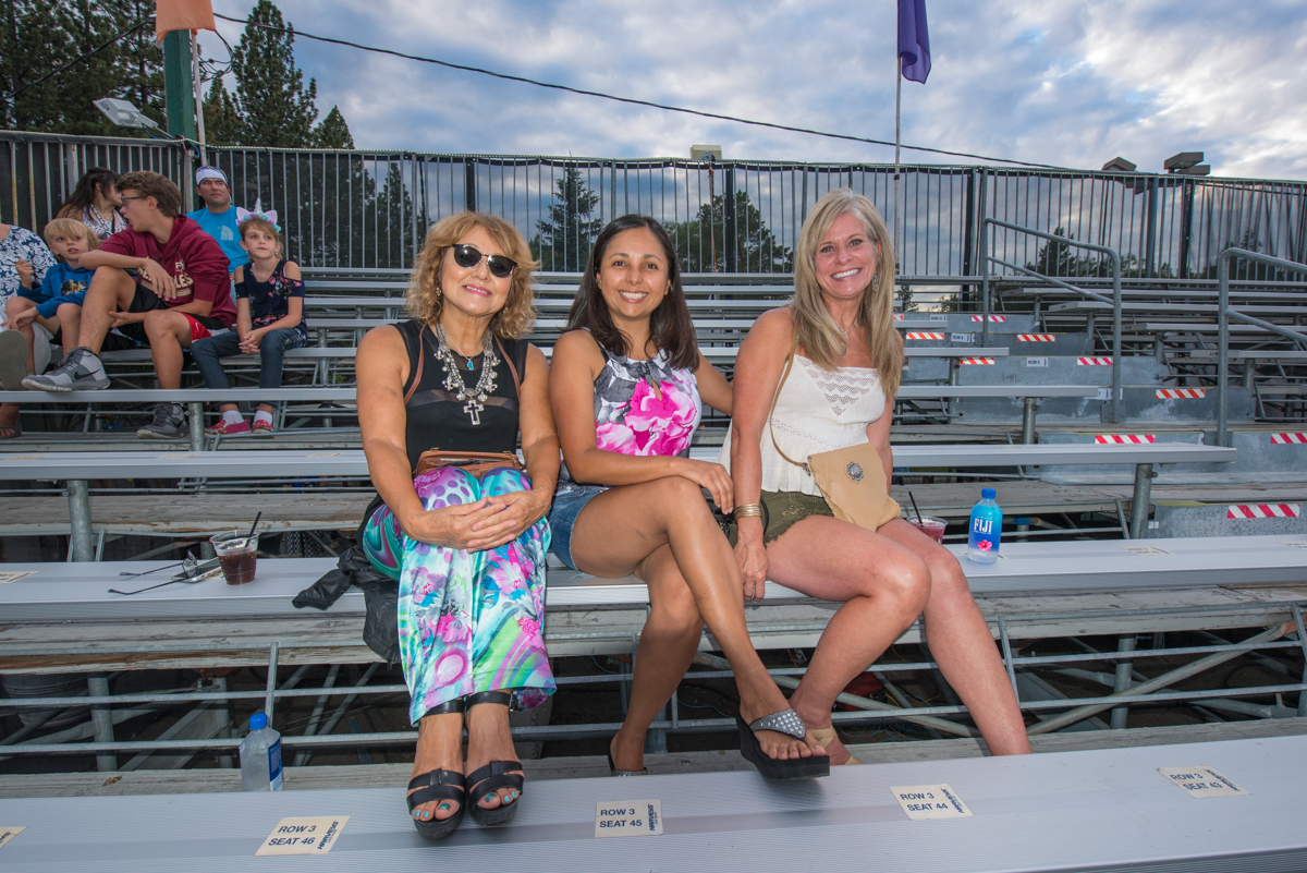 Fans awaiting Pitbull's performance at the Harveys Lake Tahoe outdoor concert venue on Friday, July 13th.
