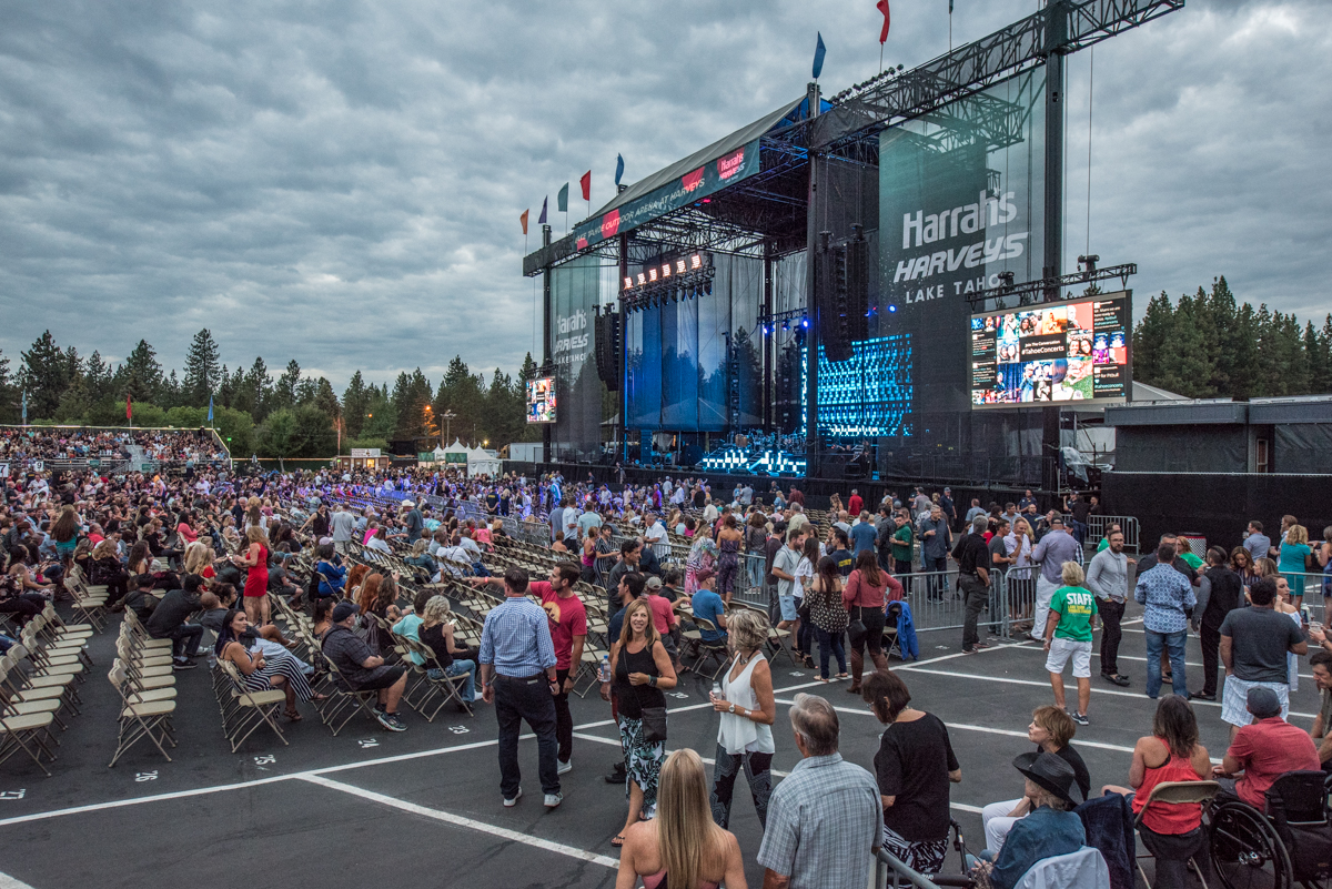 Harveys Lake Tahoe outdoor concert venue fills up as fans arrive to see Pitbull perform on Friday, July 13th.