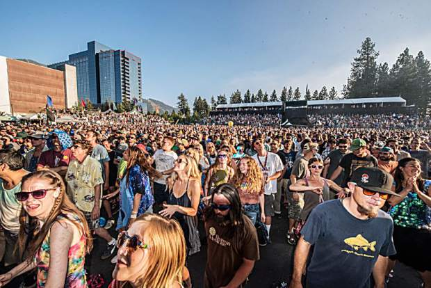 Fans waiting to see Phish perform at the Harveys Lake Tahoe outdoor concert venue on Tuesday, July 17th.