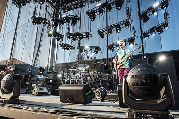 Phish performing at the Harveys Lake Tahoe outdoor concert venue on Tuesday, July 17.