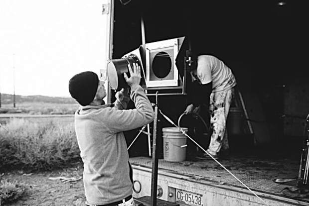 Ian Ruhter transformed an old delivery truck into a giant camera and creates images using a technique from the 1850s.
