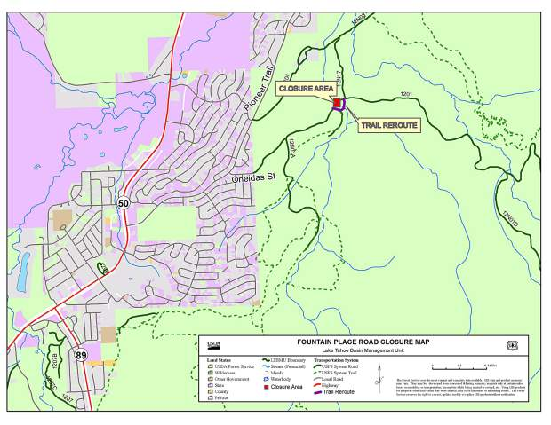 Forest Service road near South Lake Tahoe temporarily closed for ...