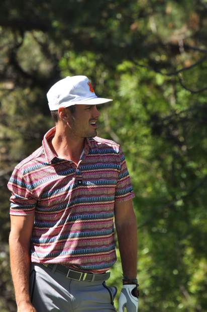 "Ben Higgins takes in the scene at the American Century Championship — the first for the star of ""The Bachelor: Season 20."""