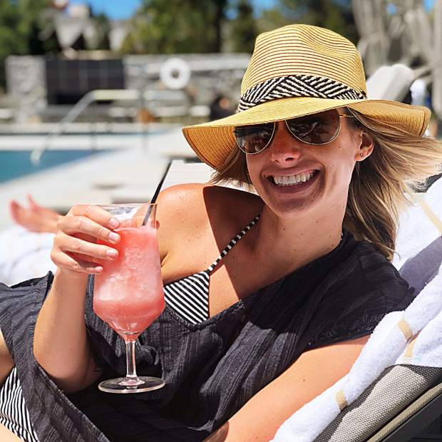 Frosé all day! Staycations are the best!