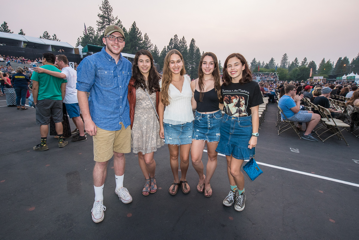 Fans waiting to see Florence + the Machine perform at the Harveys Lake Tahoe outdoor concert venue on Thursday, Aug. 10.